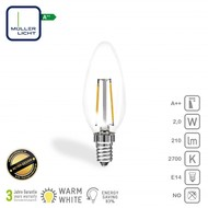 Müller Licht Lampe LED bougie E14 2W 210lm