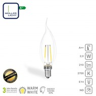 Müller Licht Lampe LED bougie avec pointe E14 2W 210lm