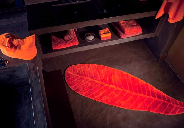 Habidecor Tapis de bain FEUILLE (100% coton) - Piet Nollet