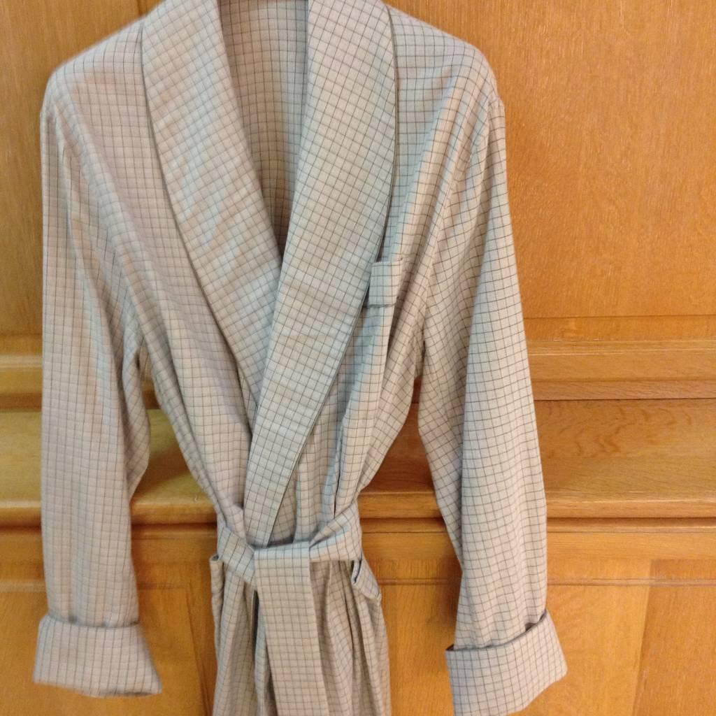 piet nollet robe de chambre pour les hommes de coton flanelle -