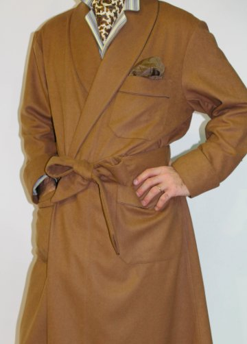 Piet Nollet Dressing Gown , classic for MEN in 100% CASHMERE with ...