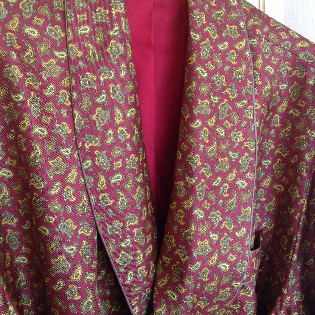 Piet Nollet Dressing gown in 100% silk and lined (inside) with 100 ...