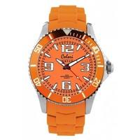 Colori Colori horloge Cool Steel oranje