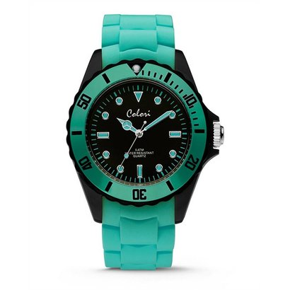 Colori Colori Horloge Colour Combo mint groen/zwart