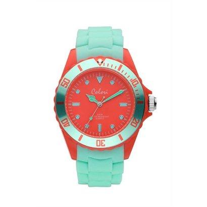 Colori Colori Horloge Colour Combo groen/rood