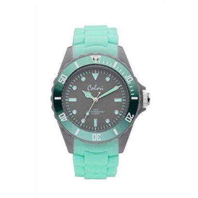 Colori Colori Horloge Colour Combo mint groen/grijs