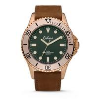 Colori Colori Horloge Timber horloge bruin/rosé goud