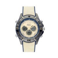 Colori Colori Horloge Timber Vintage wit