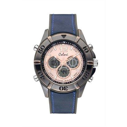 Colori Colori Horloge Timber Vintage blauw