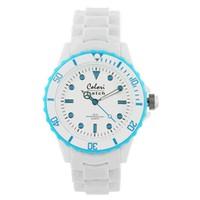 Colori Colori horloge White Summer aqua 5-COL014
