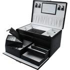 Sieradendoos luxe zwart/grijs 811