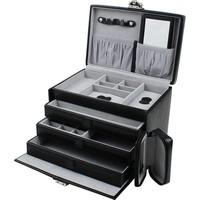 Sieradendoos luxe zwart/grijs 804