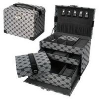 Sieradendoos zwart/grijs luxe 608