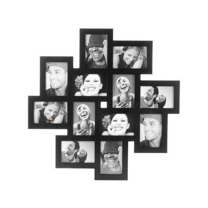 PT Leuke, speelse fotolijst voor 12 foto's in verschillende formaten. Formaat fotolijst 65x65cm.