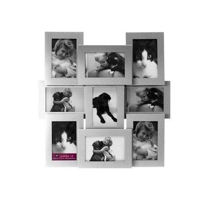 PT Fotolijst collectie alu matt.Voor 9 foto's van 10x15cm.