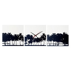 Wandklok Beach Skyline KA5484
