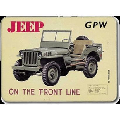Magneet Jeep GPW metaal 55x75mm
