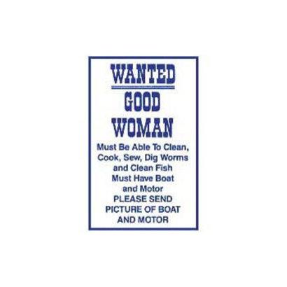 Magneet Wanted Good Woman metaal 55x75mm