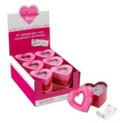 Moodzz Met het 'Valentijnshart' geef je een romantische impuls aan jullie samenzijn op Valentijnsdag. Ben je op zoek naar een origineel cadeautje? Verras dan je geliefde met dit liefdevolle spelletje voor een onvergetelijke Valentijnsdag.