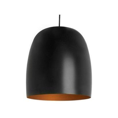 Leitmotiv Eivormig lamp in zwart uitgevoerd
