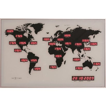 Nextime NeXtime World Time Digit wandklok