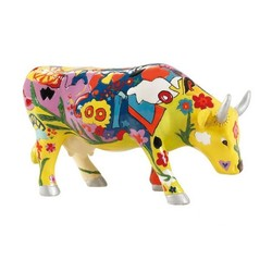 Cowparade Medium Resin Groovy Moo