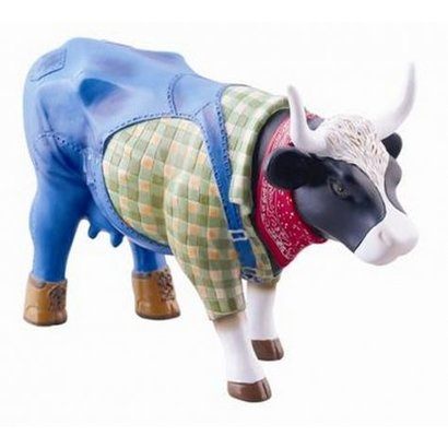 Cowparade Cowparade Medium Resin Farmer Cow