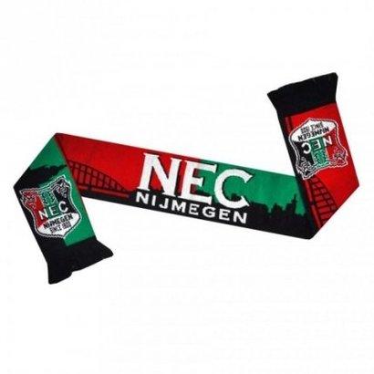 Een nieuwe N.E.C. sjaal in de herkenbare clubkleuren en het logo aan beide uiteinden! Voorzien van de prachtige skyline is dit een mooie sjaal voor iedere N.E.C. supporter!