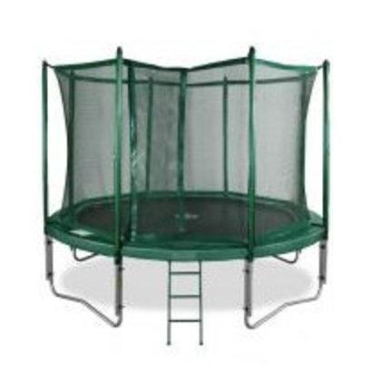 Avyna Top kwaliteit trampoline compleet met veiligheidsnet en trap.Doorsnee 430cm en hoogte 89cm