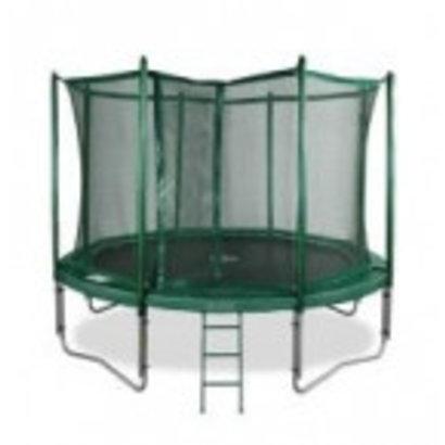 Avyna Top kwaliteit trampoline compleet met veiligheidsnet en trap.Doorsnee 305cm en hoogte 76cm