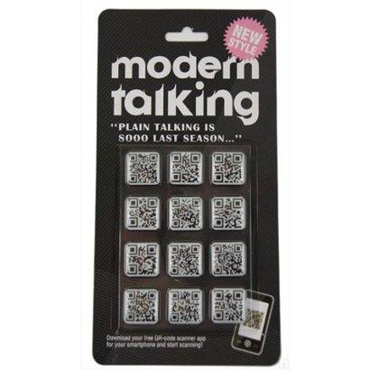 Met deze QR magneten maak je van jouw koelkast een gecodeerd informatie centrum! Je kan alleen de boodschap op de QR magneten lezen als je de magneten scant! Modern Talking noemen wij dat! Set van 12 stuks.