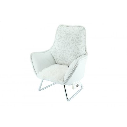 Music chair telefoon wit baroc