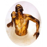 Toiletsticker Golden Man