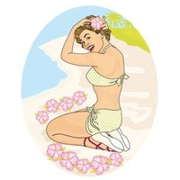 Toiletsticker Hawai Girl