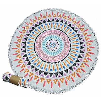 Roundie beach towel - rond strandlaken - badstof- boho - Ibiza handdoek bali stijl - Indian