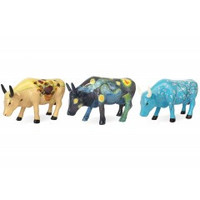 Cowparade Cowparade Collectables Artpack Van Gogh set 3 stuks