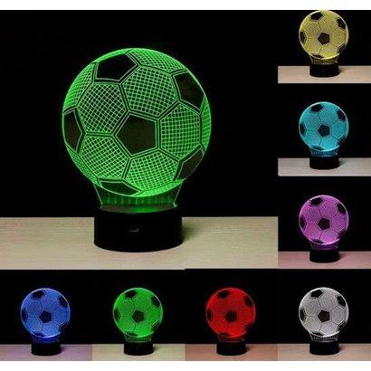 Voetbal Nachtlamp 3D
