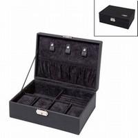 Sieraden/horloge doos zwart 616