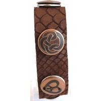 Babouche Baboos Babouche armband leder snake bruin