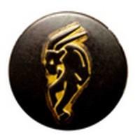 Babouche Baboos Babouche Baboos Drukker zwart/goud Steenbok