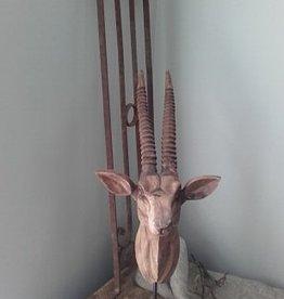 Houten Springbok ornament