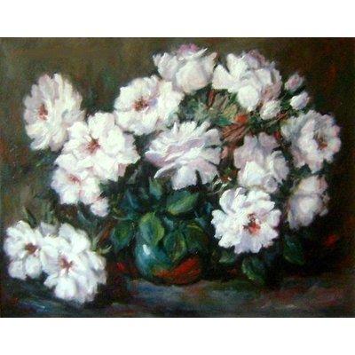 Witte rozen | 40x50cm