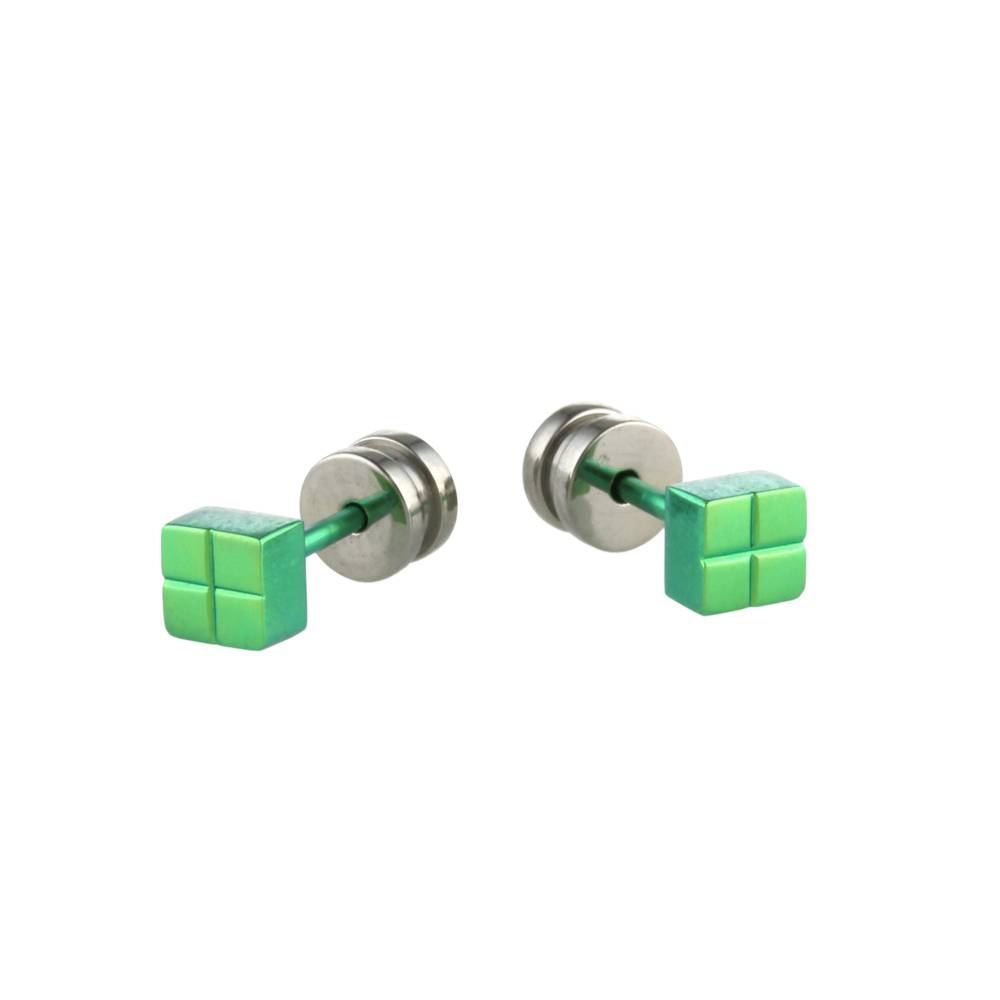 Titanium Design Stud Green 2017309-90