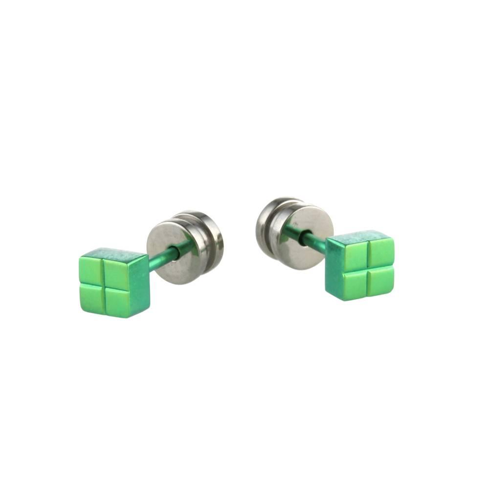 Titanium Design Stud Green 2017309-90