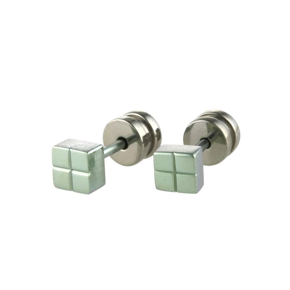 Titanium Design Stud L Green 2017309-40