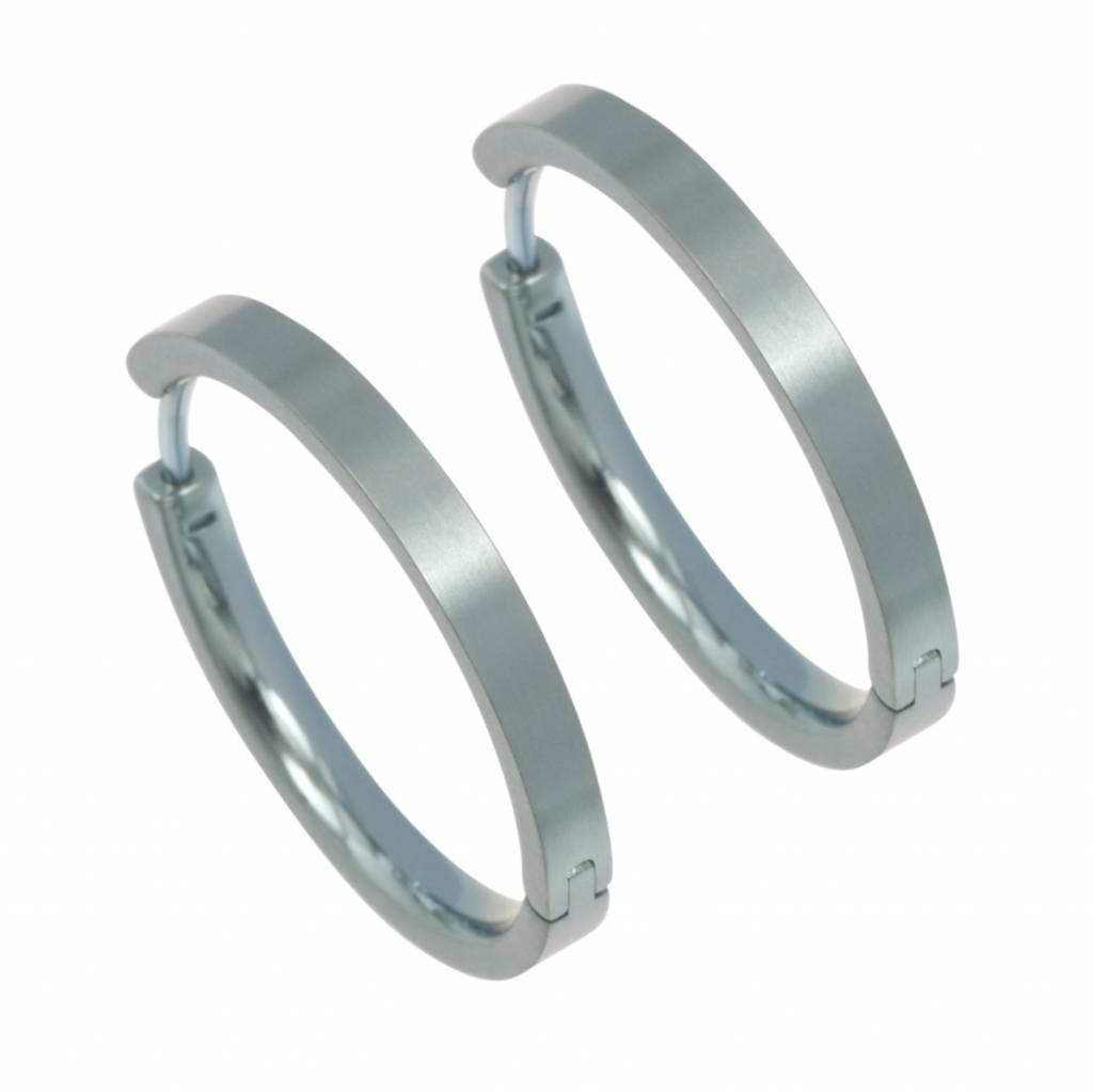 Naisz Titanium Design Earring 24mm x 3mm 2017321-40
