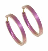 Naisz Titanium Design Earring 24mm x 3mm 2017321-63