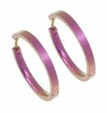 Titanium Design Earring 24mm x 3mm 2017321-63