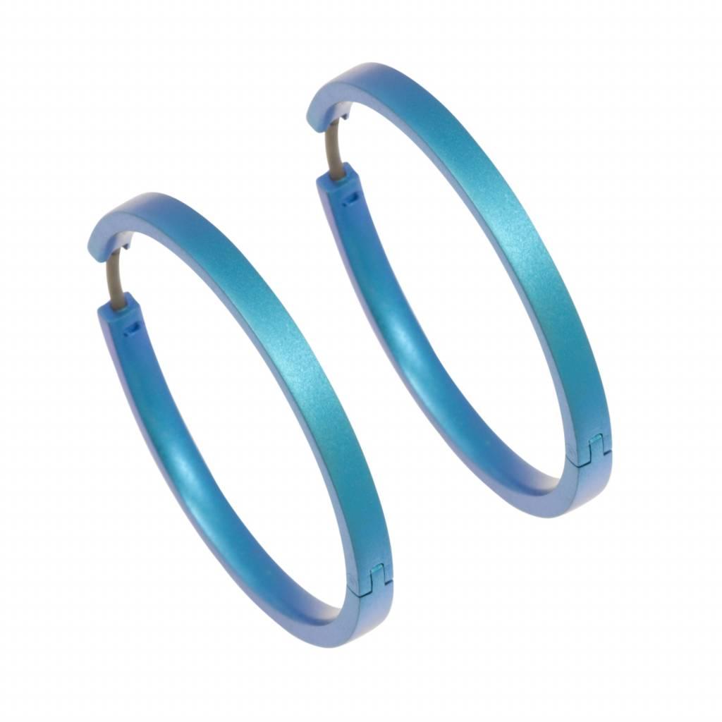 Naisz Titanium Design Earring 32mm x 3mm 2017322-80