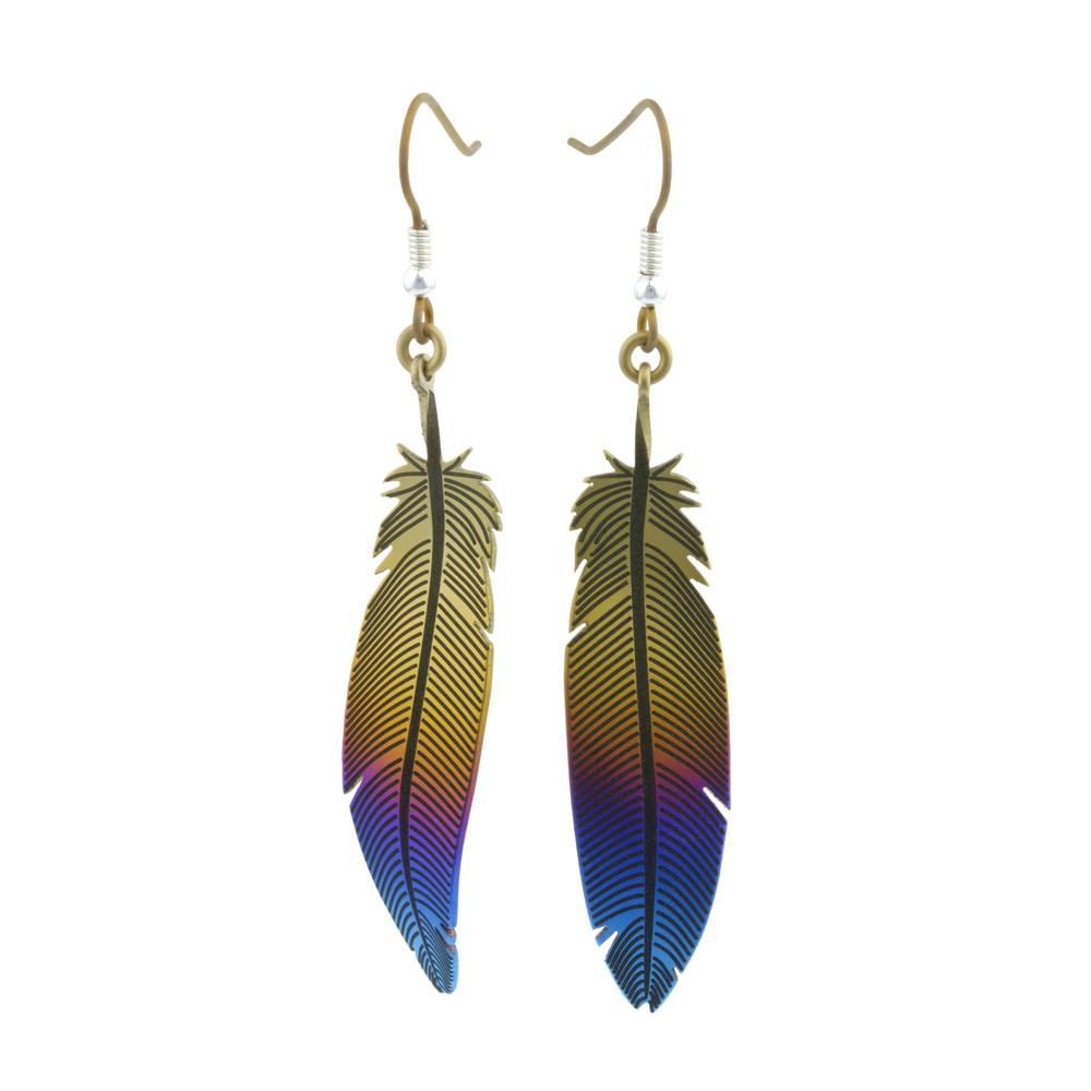 Naisz Titanium Design Feather 2017472-Brown-Blue